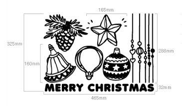 ウォールステッカー クリスマス ウォールステッカー 北欧 ウォールステッカー 窓 【ゆうパック送料無料】 クリスマスウォールステッカー 【オーナメントB】 デコレーション 北欧 窓 ガラス クリスマスツリー ウィンドウステッカー
