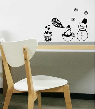 ウォールステッカー クリスマス 【定形外郵便送料無料】 ウォールステッカー ゆきだるま ウォールステッカー snow man 転写式 ウォールステッカー クリスマスツリー ウォールステッカー 北欧 壁紙 雪だるま 雪 クリスマス