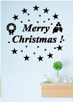 ウォールステッカー クリスマス ウオールステッカー クリスマスリース メール便 送料無料 北欧 toilet 壁紙 シール ウォールステッカー 貼るだけ簡単 クリスマスツリー 窓 ガラス ウィンドウステッカー ゴールド文字 Christmas snow