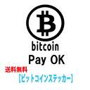 ステッカー bitcoin pay OK ビットコイン決済 店舗向け ウォールステッカー 送料無料