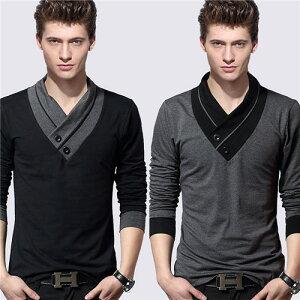 トップス メンズ 夏 長袖 メンズ tシャツ おしゃれ 春夏 カットソー Tシャツ ブランド 大きいサイズ 無地 夏服 パーカー メンズ タンクトップ メンズ カジュアル Vネック ビッグTシャツ メンズファッション ロンT トレーナー 灰色 黒 コットン