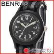 ベンラス 時計 メンズ 国内正規品 BENRUS 腕時計 おすすめ ナイロン BR763BLACK02