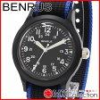 ベンラス 時計 メンズ 国内正規品 BENRUS 腕時計 おすすめ ナイロン BR763BLACK04
