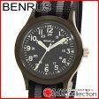 ベンラス 時計 メンズ 国内正規品 BENRUS 腕時計 おすすめ ナイロン BR763OLIVE02