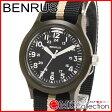 ベンラス 時計 メンズ 国内正規品 BENRUS 腕時計 おすすめ ナイロン BR763OLIVE03