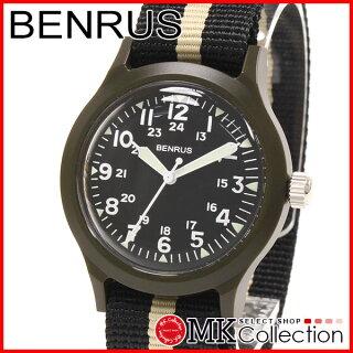 ベンラス時計メンズ国内正規品BENRUSBR763OLIVE03腕時計おすすめナイロンBR763OLIVE03