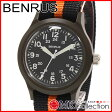 ベンラス 時計 メンズ 国内正規品 BENRUS 腕時計 おすすめ ナイロン BR763OLIVE04