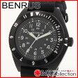 ベンラス 時計 メンズ 国内正規品 BENRUS 腕時計 おすすめ ナイロン TYPE2BLACK