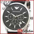 エンポリオ アルマーニ 時計 メンズ EMPORIO ARMANI ブラック 腕時計 レザー AR2447