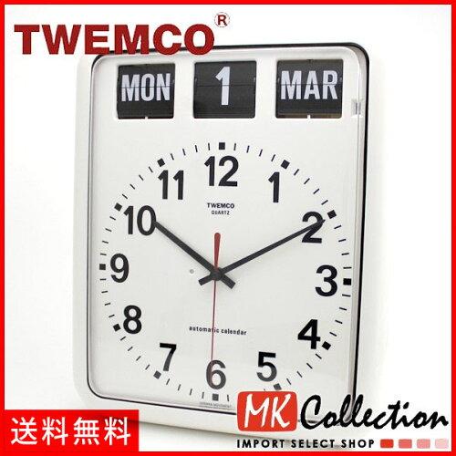 トゥエンコ 置時計 インテリア TWEMCO 時計 オシャレ クロック BQ-12A WHITE