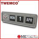 トゥエンコ 置時計 グレー 正規品 TWEMCO クロック インテリア 時計 オシャレ BQ-38 GRAY