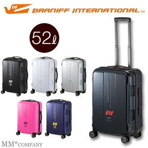 ファスナータイプ スーツケース Mサイズ 52L 3〜5泊プラスワン ブラニフ 787-56cmTSAロック搭載のキャリーケース中型 超静音キャスター