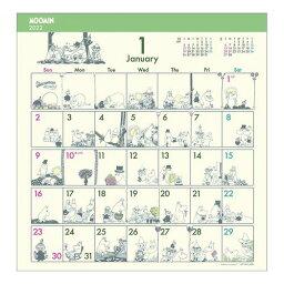 壁掛け ムーミン 2022年 カレンダー コミックデザイン 北欧 APJ 書き込み 便利 予定表 令和4年 暦 マシュマロポップ