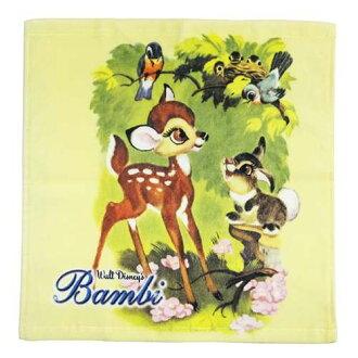 噴墨式洗毛巾擦手巾小鹿斑比享受響鈴時間迪士尼圓,34 × 35 釐米擦汗毛巾存儲所有點 / 10 x 10 6 午夜 2 上午
