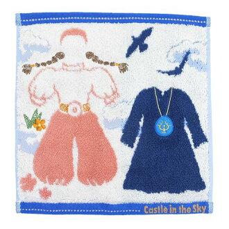 Θ 衣服天空城堡在天空手帕毛巾吉卜力圓,25 × 25 釐米擦汗毛巾青少年雜貨店棉花糖持久性有機污染物