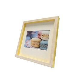 Macaron frame Yellow 200x200mm (ハガキサイズマット付) フォトフレーム マカロン フレーム 美工社 マット付き ギフト 装飾インテリア 取寄品 マシュマロポップ
