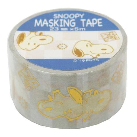 23mm マステ フェイス スヌーピー マスキングテープ ピーナッツ S & Cコーポレーション 23mm 5m DECOテープ ティーンズ ジュニア メール便可 マシュマロポップ