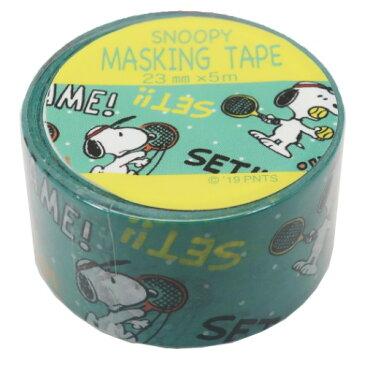 23mm マステ テニス スヌーピー マスキングテープ ピーナッツ S & Cコーポレーション 23mm 5m DECOテープ ティーンズ ジュニア メール便可 マシュマロポップ