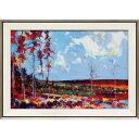 ラスパッジ DE-17014 ダグ イートン 風景画 78.5x56.5cm ギフト 絵画 紅葉 額付き ポスターインテリア 取寄品 マシュマロポップ
