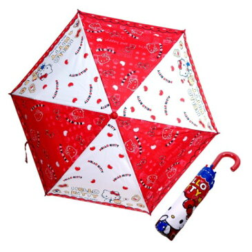 折りたたみ傘 ハート ハローキティ 折畳傘 サンリオ ジェイズプランニング 53cm 雨具 ティーンズ ジュニア マシュマロポップ