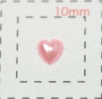 パールハート《ネイル用ハートストーン》(1)3mmピンク0.5g約40個入