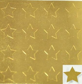 【ゴールドネイルシール】スター・星(2)/1シート16枚