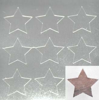 【シルバーネイルシール】スター・星(1)/1シート9枚入