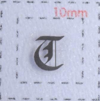 ネイルシール【アルファベット・イニシャル】大文字4 英字(T)9枚入