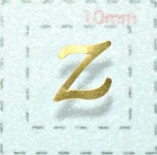 ネイルシール【アルファベット】5筆記体(Z)GD/各1シート9枚入