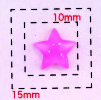 クリアスター8ミリ(星)《ネイル・デコ電用プラパーツ》ピンク10個入