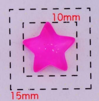 クリアスター10ミリ(星)《ネイル・デコ電用プラパーツ》ピンク5個入
