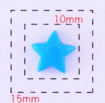 スター8ミリ(星)《ネイル・デコ電用プラパーツ》ブルー6個入