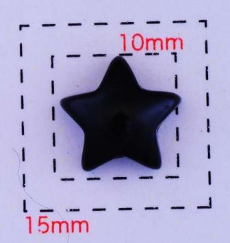スター10ミリ(星)《ネイル・デコ電用プラパーツ》ブラック5個入