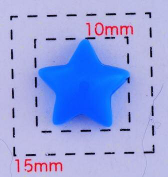 スター10ミリ(星)《ネイル・デコ電用プラパーツ》ブルー5個入