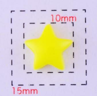 スター10ミリ(星)《ネイル・デコ電用プラパーツ》イエロー5個入