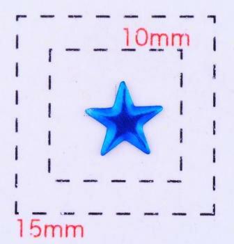 星型カラフルスタッズ6ミリ(星)《ネイル・デコ電用メタルパーツ》アクアブルー10個入