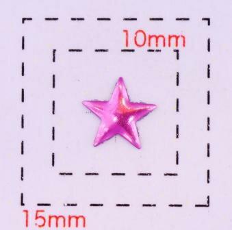 星型カラフルスタッズ6ミリ(星)《ネイル・デコ電用メタルパーツ》ピンク10個入
