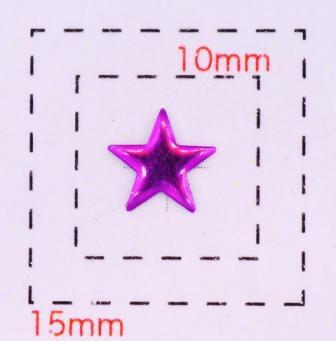 星型カラフルスタッズ6ミリ(星)《ネイル・デコ電用メタルパーツ》パープル10個入