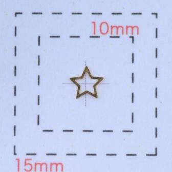 プチメタルスター4ミリ(星)《ネイル・デコ電用パーツ》ゴールド20個入