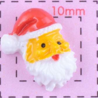 サンタクロース(1)13×10ミリ《ネイル&デコ用クリスマスパーツ》 4個入