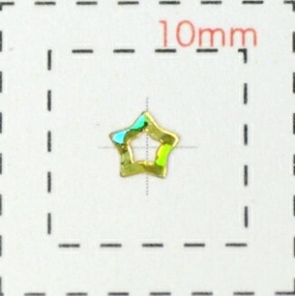 オーロラホロスター(星)《ネイル・デコ電用プラパーツ》ゴールド(1)