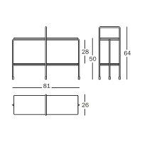TRAFFICLowtable[TV2700]屋内用トラフィックローテーブル81×26H49クリスマスお正月準備