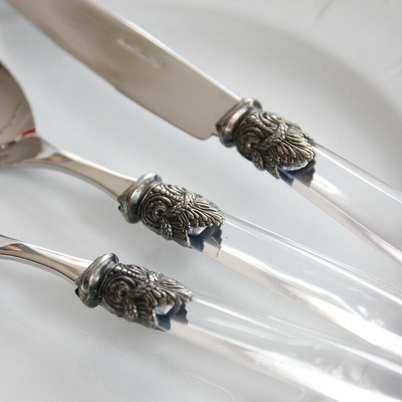 EME Napoleon カトラリー ナポレオン クリアケーキフォーク(15.5cm)食洗器対応  おしゃれなインテリアの作り方 アウトドアリビングが気持ちいい