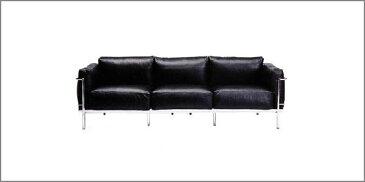 LC3 3人掛けソファ革Aグレード ソフトクッションデザイナーズ家具 イタリア製選べる革カラー  おしゃれなインテリアの作り方 アウトドアリビングが気持ちいい