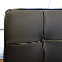 椅子レザーデザイナーズ【バルセロナチェア1人掛ソファBグレードこげ茶5279】即納可能イタリア家具代引き不可