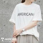 【SALE対象外】【2020SS】AMERICANA×MMN【別注アイテム】アメリカーナコットンロゴTシャツASO-429GB【RCP】