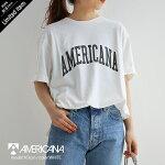 【2021SS】AMERICANA×MMN【別注アイテム】アメリカーナ天竺AMERICANAロゴTシャツBRF-504AGB【RCP】
