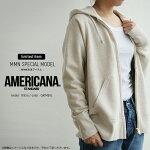 【2018AW】【送料無料】AMERICANA×MMN【別注アイテム】アメリカーナゴールドジップフードスウェットBRF-871EW【RCP】americanafair