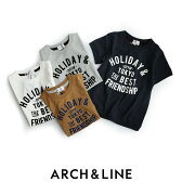 J【2017SS】【kids】ARCH&LINE アーチ&ライン フロッキープリントTシャツ A711341【RCP】