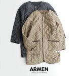 【2019AW】【送料無料】ARMENアーメンノーカラーコートNAM1651【RCP】